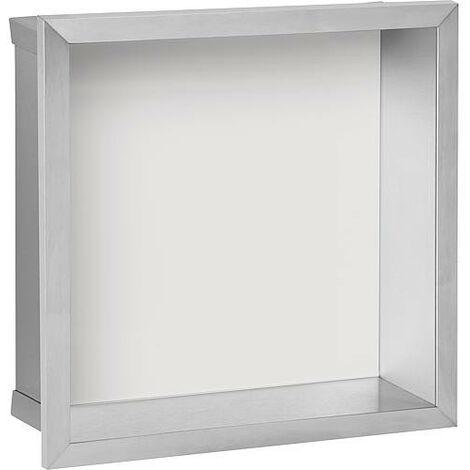 Niche mural, paroi vitree blanche profondeur 150mm, lxh: 325x325mm