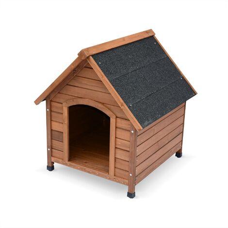 Niche pour chien en bois COCKER M, cabane pour chien 69 x 65 x 76cm