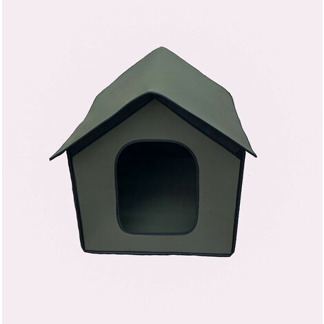 Niche pour Chien Exterieur   Maison pour Chat Étanche   Cabane Chat Exterieur Hiver pour Animaux de Compagnie   Abri Ecologiques Pliable pour Chat/Lapin/Petit Chien(vert)