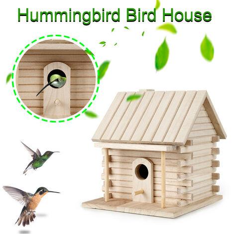 Nichoir en bois pour nichoir à oiseaux