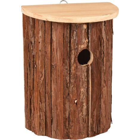 Nichoir pour oiseaux GERSON. 18.5 X 11 X 25 cm. bois naturel.