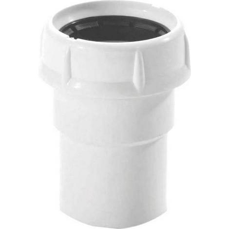 NICOLL 0206009 - Douille ø40 mm à coller avec écrou + 2 joints à lèvres - VIDHOOFLEX