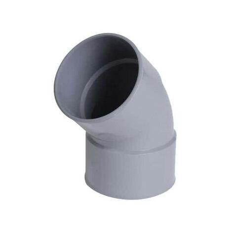 NICOLL PVC elbow - 45° - Diameter 50 - Female-female - to be glued - 57380U