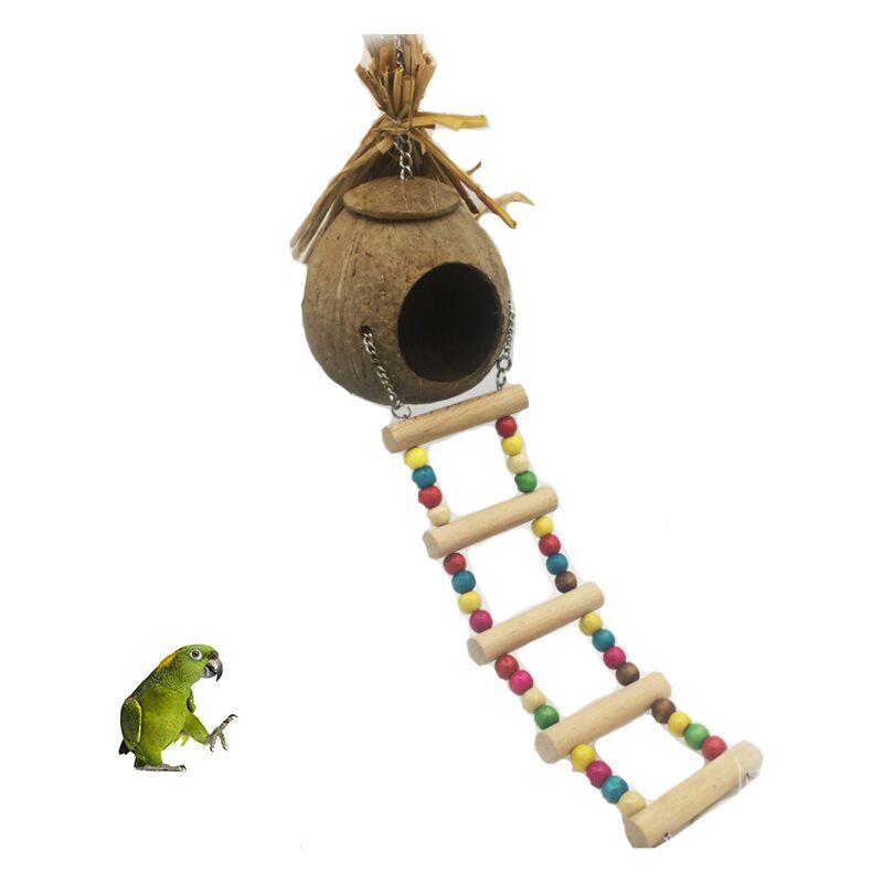 Perle rare Nid d'oiseau nid de noix de coco nid d'herbe nid de perruche nid de paille nid de reproduction nid d'oiseau petit nid d'oiseau perroquet