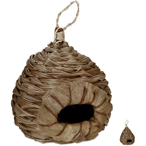Nid d'oiseaux, nichoir décoratif, suspendu, fibres de coco tressés, Jardin, Balcon et autres Designs, nature