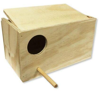 Nido Agapornis vertical en madera Yagu