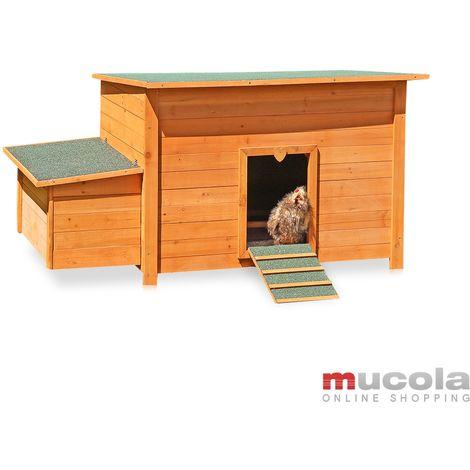 nido di polli in gabbia di legno di polli che posa nido nido piccolo animale
