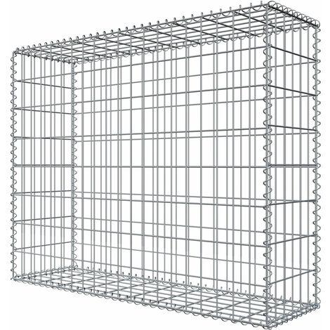 Niederberg Metall Gabion en pierre 80x100x30 MW 5x10 Cage métallique Déco Jardin