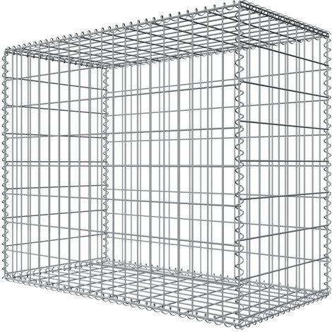 Niederberg Metall Gabion en pierre 80x100x50 MW 5x10 Cage métallique Déco Jardin
