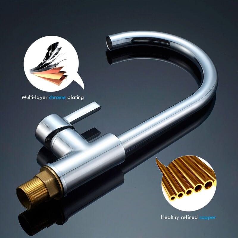 Niederdruck Armatur Küche Spültischarmatur Schwenkbereich 360 ...