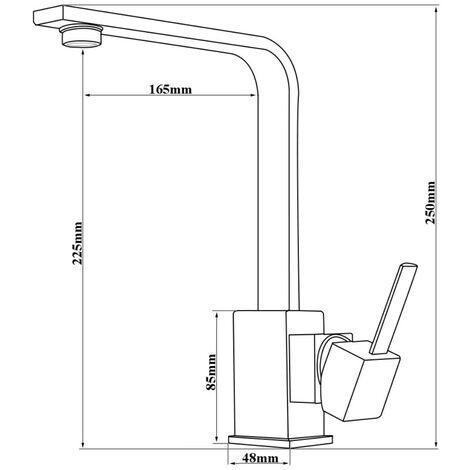 Niederdruck Küchenarmatur Spültisch Waschbecken Armatur Schwarz