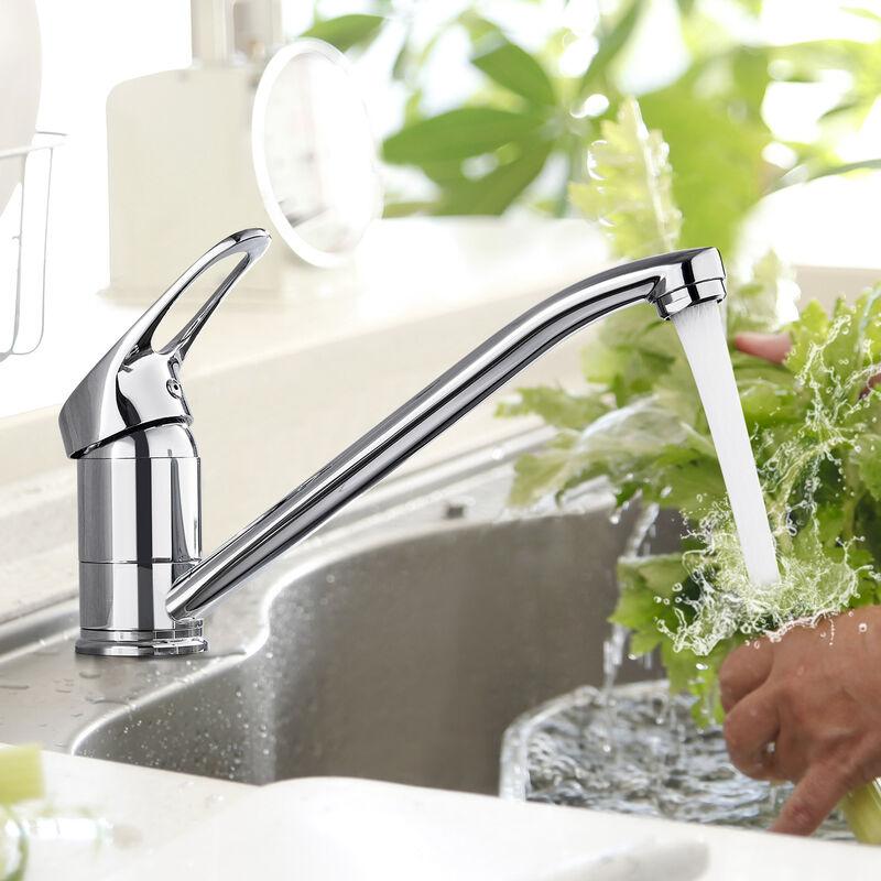 Niederdruck Küchenarmatur Spültischarmatur Küche Armatur Wasserhahn 360°  Schwenkbar Mischbatterie Einhebelmischer Niederdruckarmatur ...