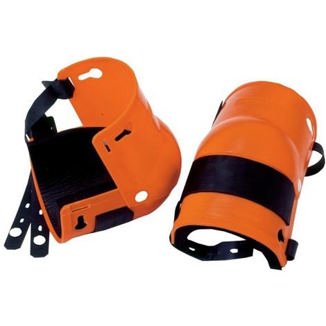 Nierhaus paire de genouillères protection en orange, 20 mits c.