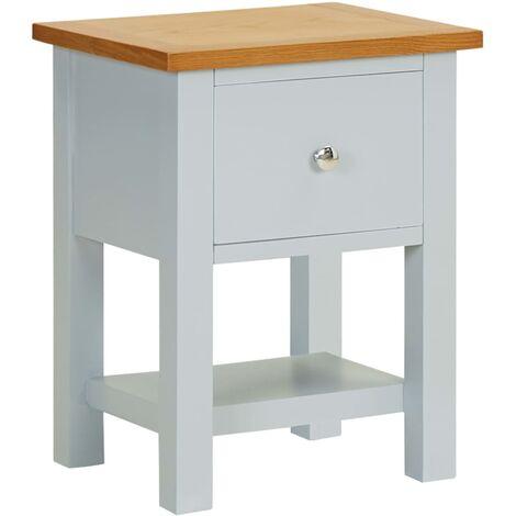 Nightstand 36x30x47 cm Solid Oak Wood - Grey
