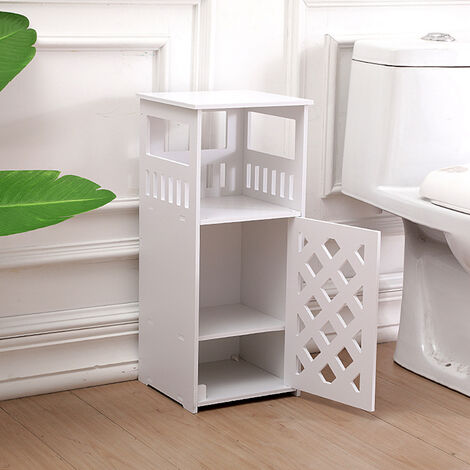"""main image of """"Nightstand Bedside Table Bedroom Side Storage Drawers 26X24X59CM White"""""""