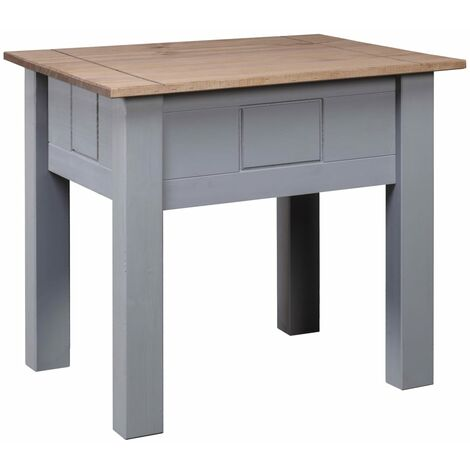 Nightstand Grey 50.5x50.5x52.5 cm Pine Panama Range