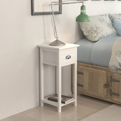 Nightstand with 1 Drawer White