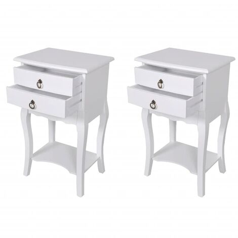 Nightstands with Drawers 2 pcs White
