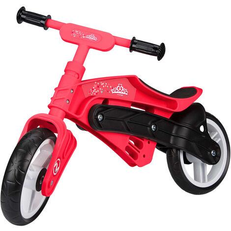 Nijdam Vélo d'équilibre ajustable N Rider Rose et noir
