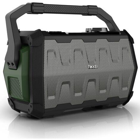 Nikkei Altavoz con micrófono SPEAKERBOXX100 2x5W gris y verde