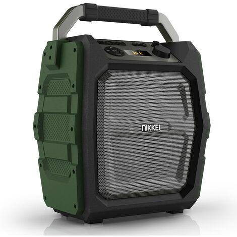 Nikkei Altavoz con micrófono SPEAKERBOXX300 3W gris y verde