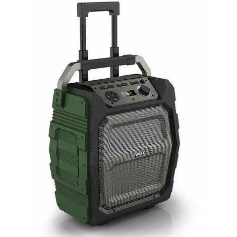 Nikkei Altavoz con micrófono SPEAKERBOXX500 50W gris y verde