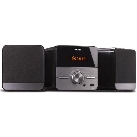Nikkei Equipo reproductor de CD estéreo con radio FM NMC306 10W gris