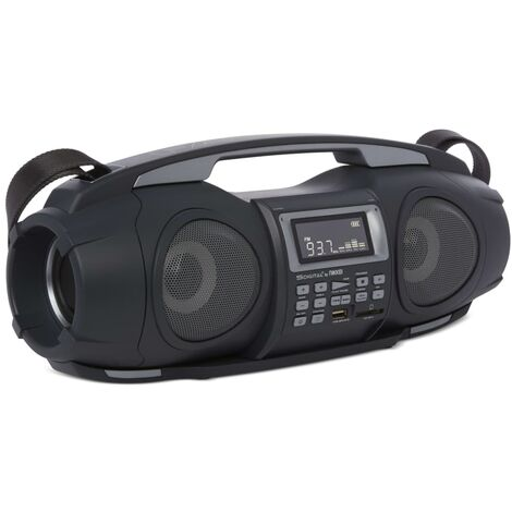 Nikkei Radiocasete portátil con MP3 Fatboy NGB3601BK 2x5 W negro