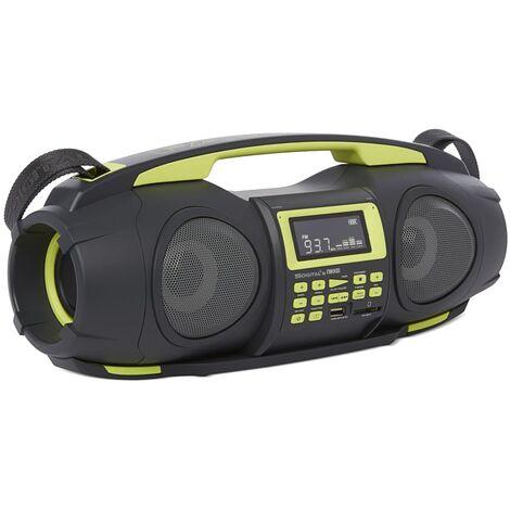Nikkei Radiocasete portátil con MP3 Fatboy NGB3601GN 2x5 W verde