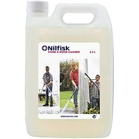Nilfisk 125300385 Detergente para Piedra y Madera, Limpiador Universal para hidrolimpiadoras, Blanco