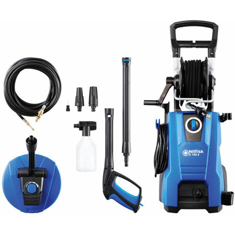 Nilfisk Alto 128471209 D140.4-9 DP X-TRA Pressure Washer & Home Plus Kit 140 bar