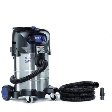 Nilfisk Alto - Aspirateur eau et poussière 37L 1500W (Inox et Décolmatage) - ATTIX 40-21 PC INOX