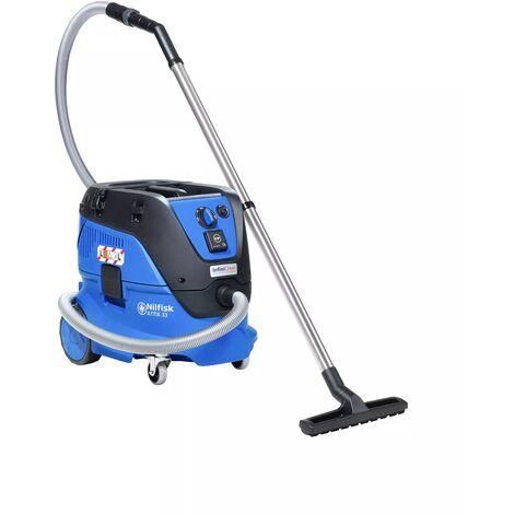 Nilfisk Attix Aspirateur Eau de 33–2L IC Filtre Met Fleece Filterzak Automatique 1400 W bleu 107412103