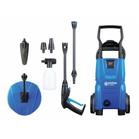 Nilfisk C110.7-5 PCA X-TRA Pressure Washer with Patio Cleaner & Brush 110 Bar 240V