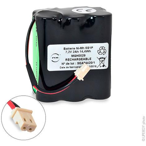 NiMH battery pack 6x AA NX 6S1P ST2 7.2V 2Ah Molex