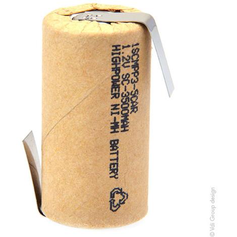 NiMH industrial battery 1SCM3-0 paper 1.2V 3000mAh HBL