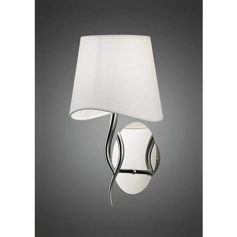 """main image of """"Ninette wall light with switch 1 bulb E14, polished chrome with ivory white"""""""