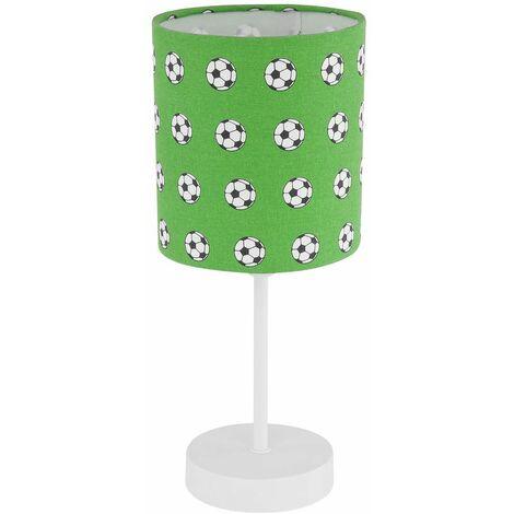 Niños Lectura Luminaria Verde Blanco Sala de juegos Noche Escritura Lámpara de mesa Diseño de fútbol Globo 54009T