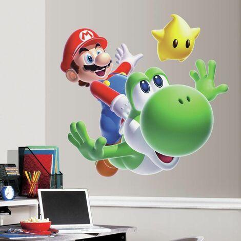 NINTENDO MARIO YOSHI - Stickers repositionnables géants Yoshi, personnage de Mario, Nintendo 86x76 - Multicolore