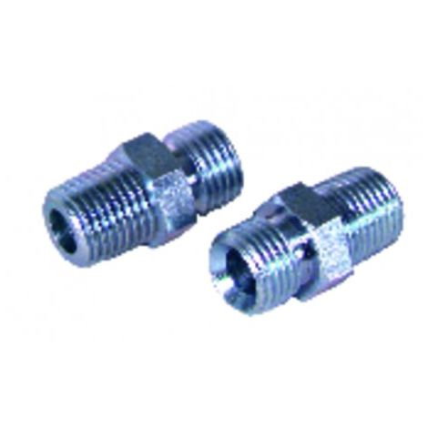 Nipple fuel m1/2 conical x m1/2 (X 2)