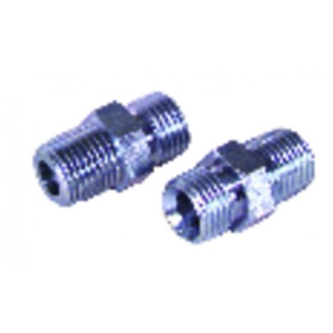 Nipple fuel m1/4 conical x m3/8 (X 2)