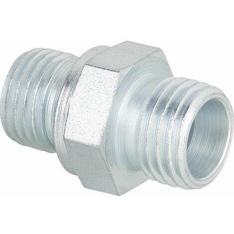 Nipple special EN 1/4 cyl. x 8LR pour flexible fuel Brötje Cuenod Oechsle