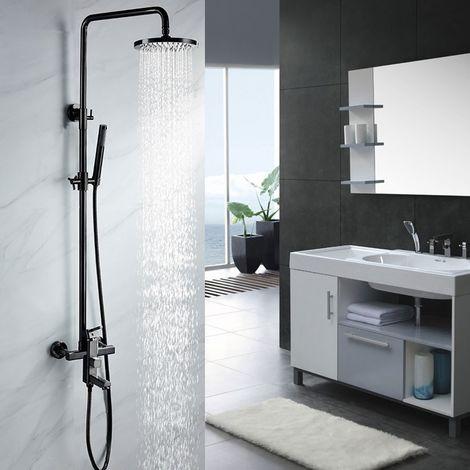 Níquel negro lluvia y columna de ducha