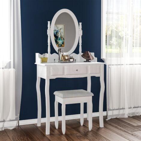 "main image of ""Nishano 1 Drawer Dressing Table, White"""