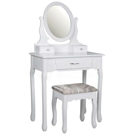 Nishano 3 Drawer Dressing Table, White