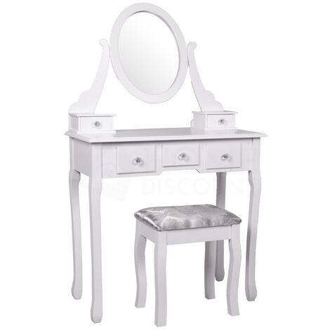 Nishano 5 Drawer Dressing Table, White