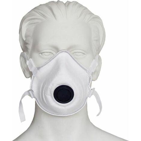 NITRAS Atemschutzmaske (FFP3 / V NR / mit Ausatemventil / Inhalt: 10 Stück) - 4140SI