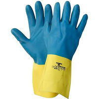 NITRAS NITRAS 3470 Dual Barrier Chemikalienschutzhandschuhe - blau-gelb / 300 mm