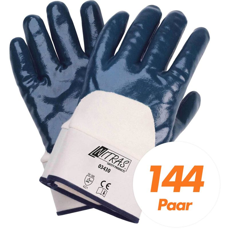 10 XL Nitril Handschuhe 10 Paar Arbeitshandschuhe Gartenhandschuhe gelb Gr