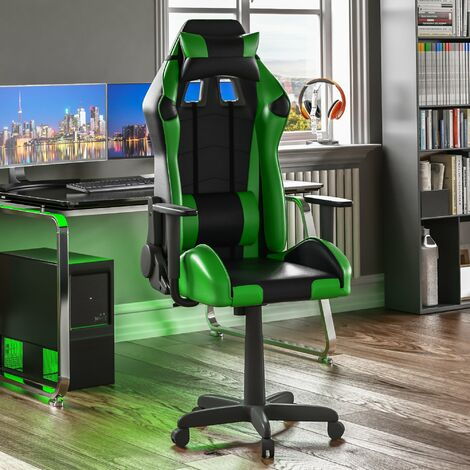 Nitro Racing Gaming Chair, Green & Black